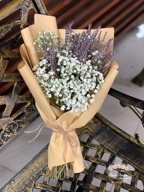 Baby's breath with lavender bouquet 02534