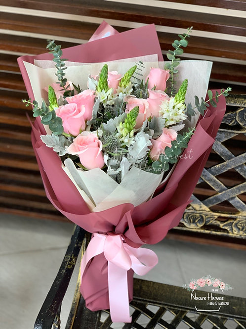 Pink rose bouquet 02539
