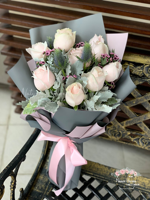 Pink rose bouquet 02543