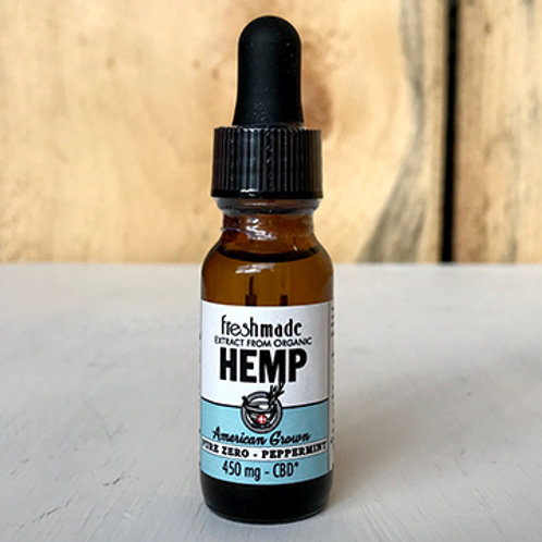 Pure Zero - Organic Peppermint Flavor  450 mg Hemp/CBD