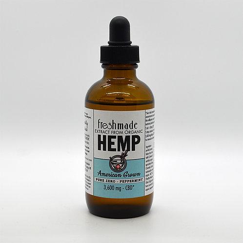 Pure Zero - 3600 mg Hemp/CBD Organic Peppermint Flavor