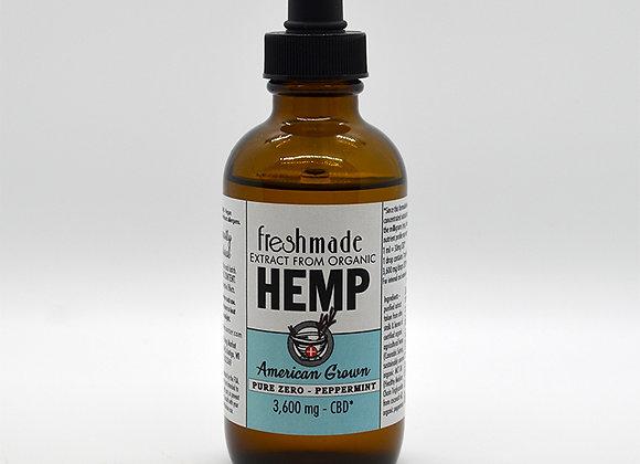 Pure Zero - 3600 mg Hemp Organic Peppermint Flavor