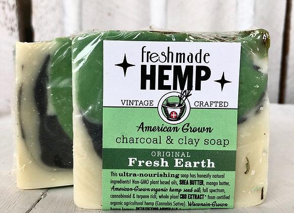 Hemp Charcoal and Clay Soap Fresh Earth