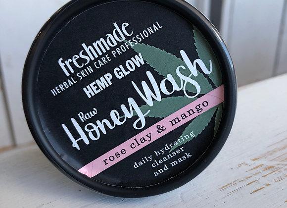 Hemp Glow Wash Raw Honey Rose Clay 2 oz