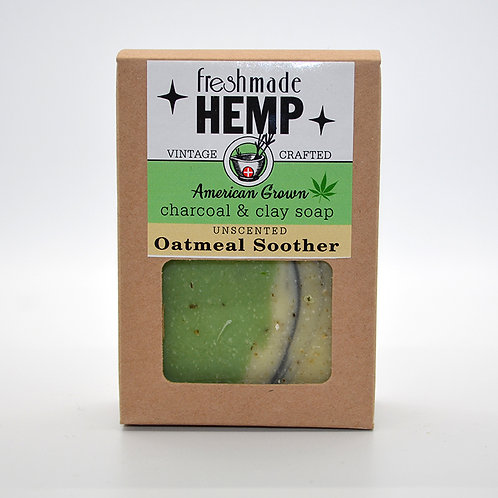 Hemp Charcoal and Clay Soap Oatmeal Soother