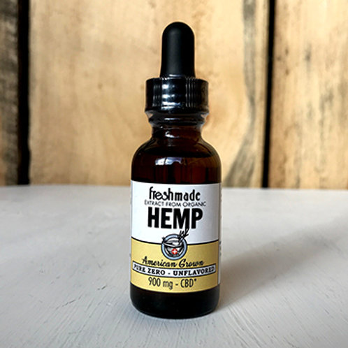 Pure Zero -  Naturally Unflavored  900 mg Hemp/CBD