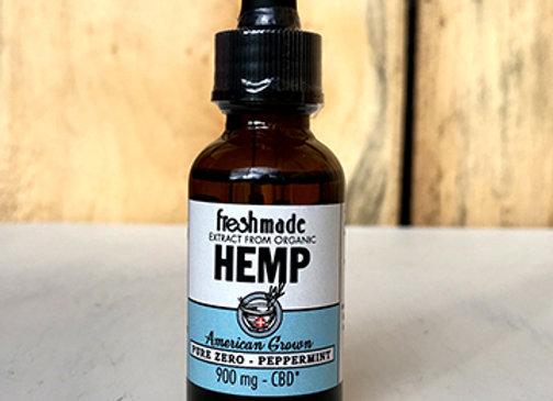 Pure Zero - 900 mg Hemp Organic Peppermint Flavor