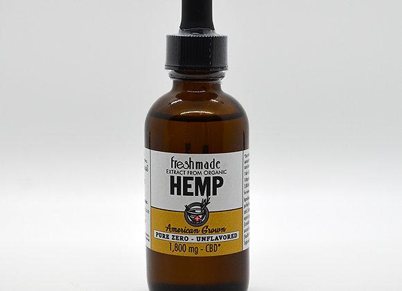 Pure Zero - 1800 mg Hemp Naturally Unflavored