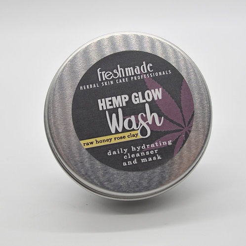 Hemp Glow Wash Raw Honey Rose Clay Travel Size