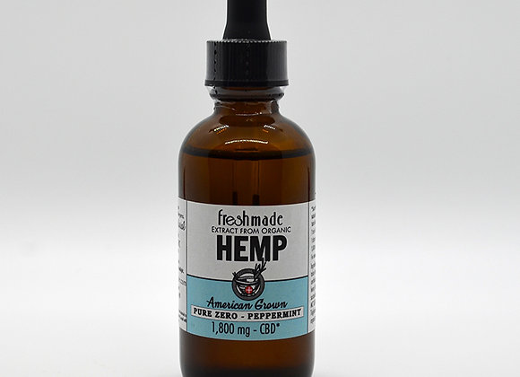 Pure Zero - 1800 mg Hemp Organic Peppermint Flavor