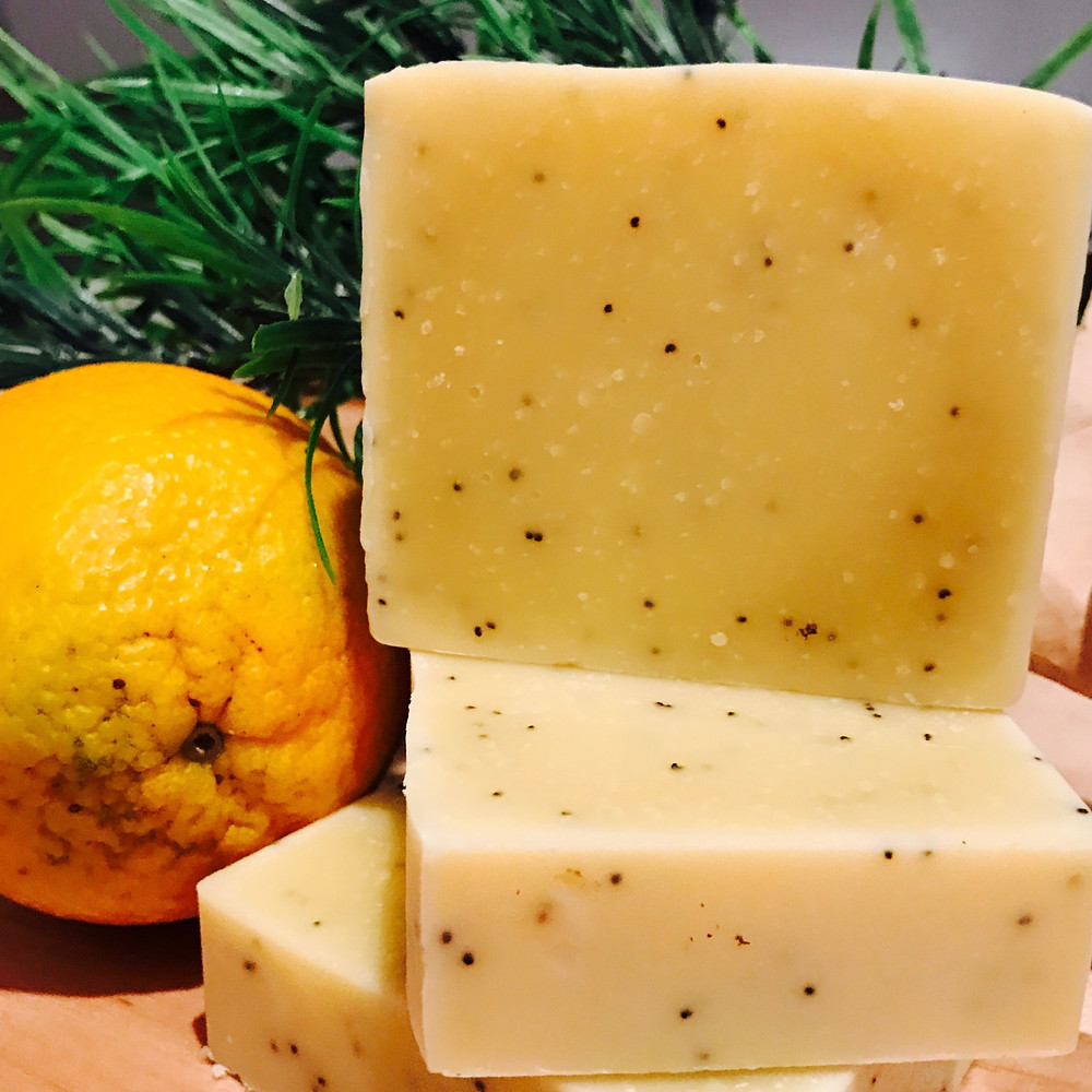 Citrus Poppy Seed Hand Crafted Soap