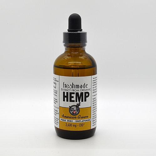 Pure Zero - 3600 mg Hemp/CBD Naturally Unflavored