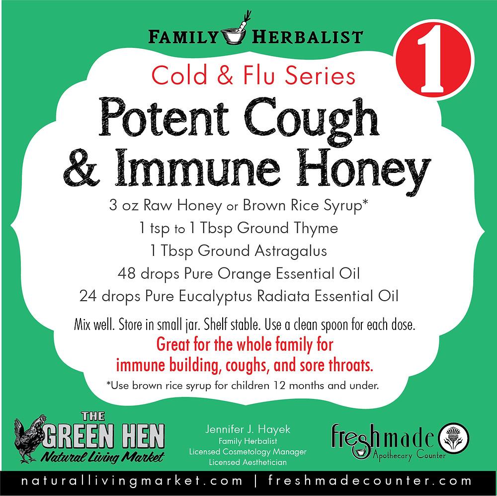 Potent Cough & Immune Honey Recipe