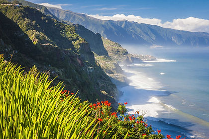 The subtropical island of Madeira, a piece of Portugal far out in the Atlantic Ocean, offers dramatic scenery, black sand beaches, volcanic craters and gushing mountain streams.  Hiking along the levada irrigation channels is a unique experience, allowing you to access the rugged interior.