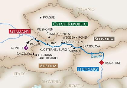 Germany, Austria, Hungary, Czech Republic, Slovakia