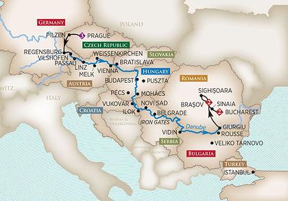 Germany, Austria, Czech Republic, Slovakia, Croatia, Serbia, Bulgaria, Romania