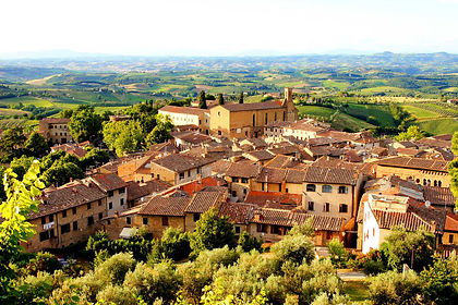 It is the classical Tuscan view of poppy fields and stately cypress trees leading you into a vista of town walls and fortified towers high up on a hill.  Enter the town and wander its cobblestones streets, visit its galleries and shops and sit down for a gourmet meal.   On this one-week hiking trip you will discover pretty towns, the renaissance cities of Siena and Florence and sample several varieties of Chianti wines.  This is La Dolce Vita, Tuscan style.