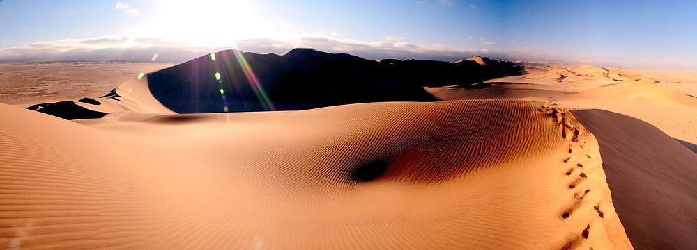 Sand dunes Sossusvlei Namibia Africa