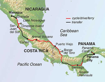 Nicaragua, Costa Rica, Panama