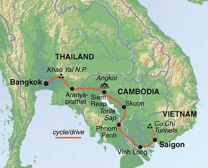 Thailand, Cambodia, Vietnam
