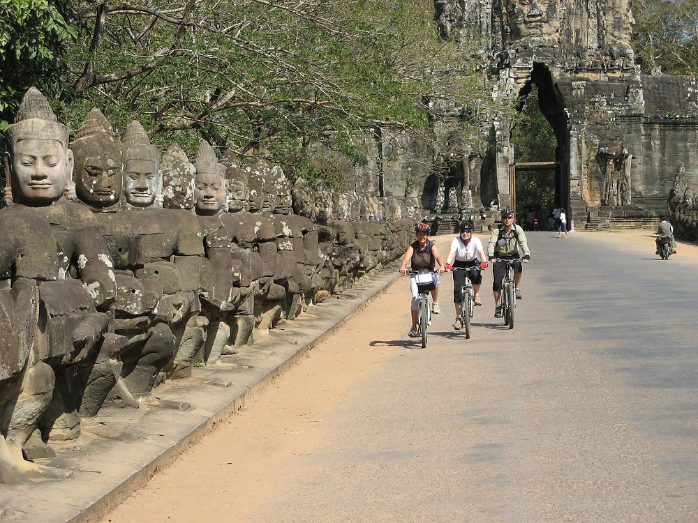 Cycling the temples of Angkor in Cambodia