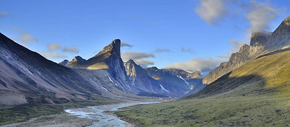 Landscapes in Canada's Arctic are large and so you will feel dwarfed by the mountains in Baffin Island's Auyuittuq National Park.  On this trek you may see arctic fox, seals, polar bears and bowhead whales as well as icebergs.  This is some of Nunavut and indeed Canada's finest hiking.