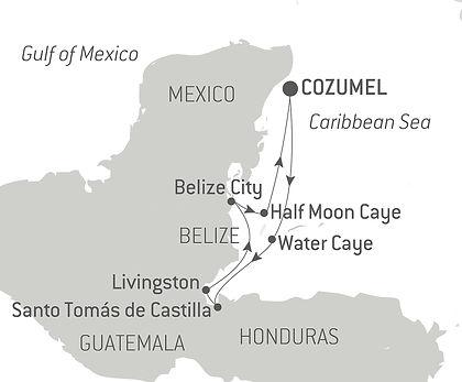 Mexico, Guatemala, Belize, Honduras