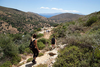 Exploring the undiscovered Greek island of Evia on foot you will find an authentic vibe, original tavernas, historical treasures and hidden beaches.