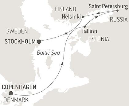 Finland, Estonia, Russia, Sweden, Denmark