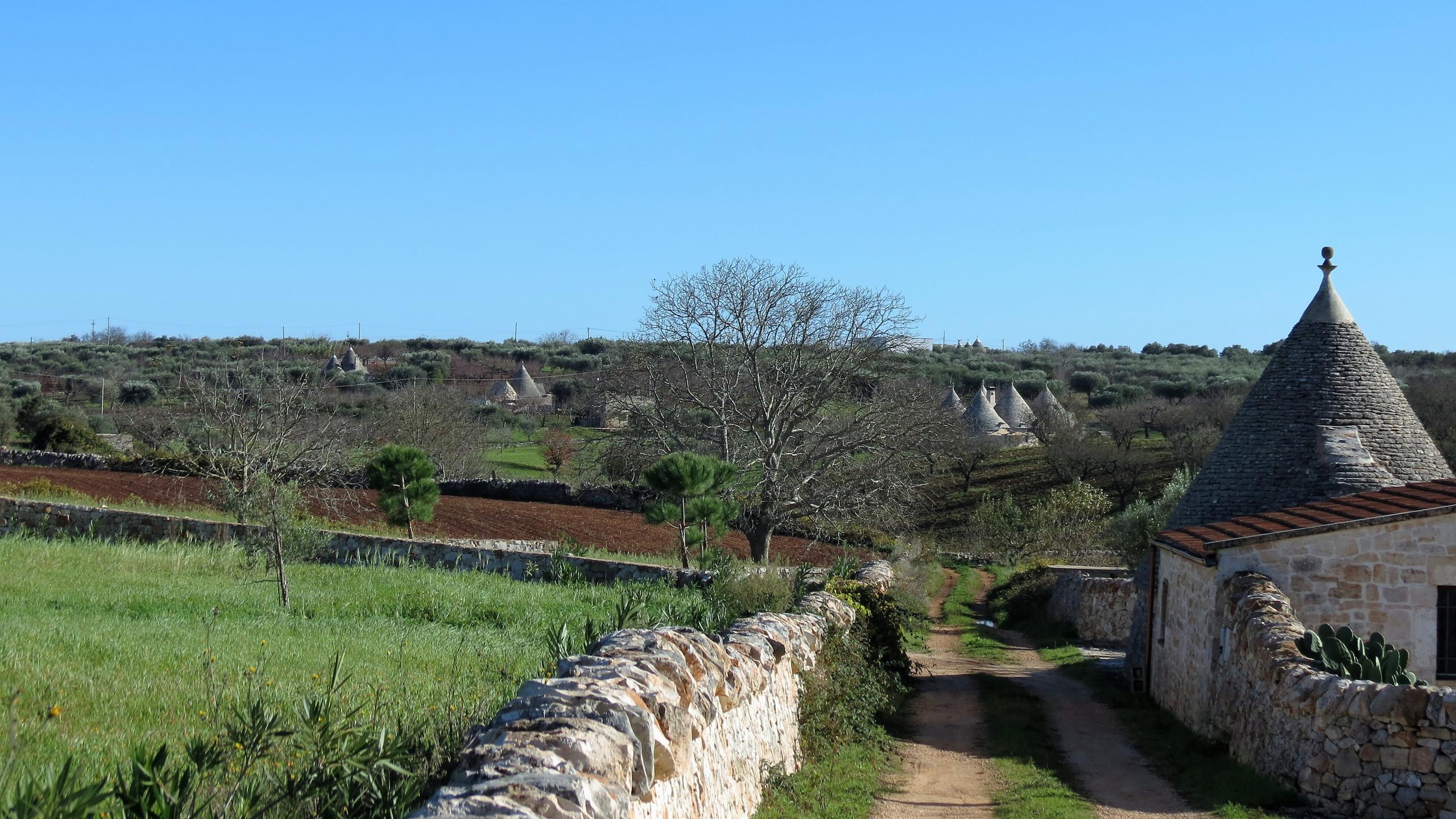Near Alberobello, walking in Puglia