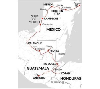 Guatemala, Mexico, Honduras