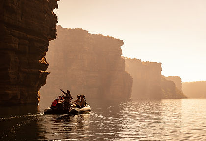 Discover the incredible red-rock landscapes of Australia's hidden north-west in the Kimberley.  Witness the highest single drop at Twin Falls on the King George River, see saltwater crocodiles in their natural habitat, cruise by zodiac through mangroves, gorges, savanna and still waters.  See billions of years-old landscapes,  discover ancient Aboriginal rock art and listen to stories of the dreamtime from the oldest culture on Earth as you explore the north-west coast of this remote land.