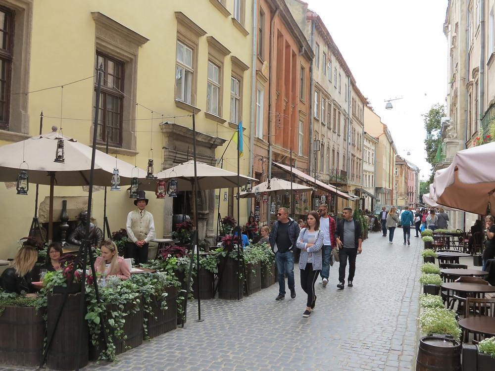 street in lviv ukraine