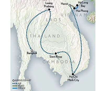 Thailand, Laos, Vietnam, Cambodia