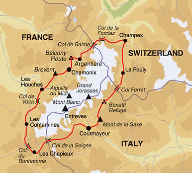 France, Switzerland, Italy