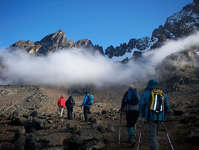 Africa's highest mountain is yours for the climbing.  Hike through rain forest, alpine meadows and high-altitude deserts to the peak and see why this is called the Roof of Africa.  The Lemosho Route allows for good acclimatization and has some fine forest walking.  This is one of the least trekked routes and you get to savour the immense wilderness of the Shira Plateau, with stunning views of the glaciers on the crater rim.