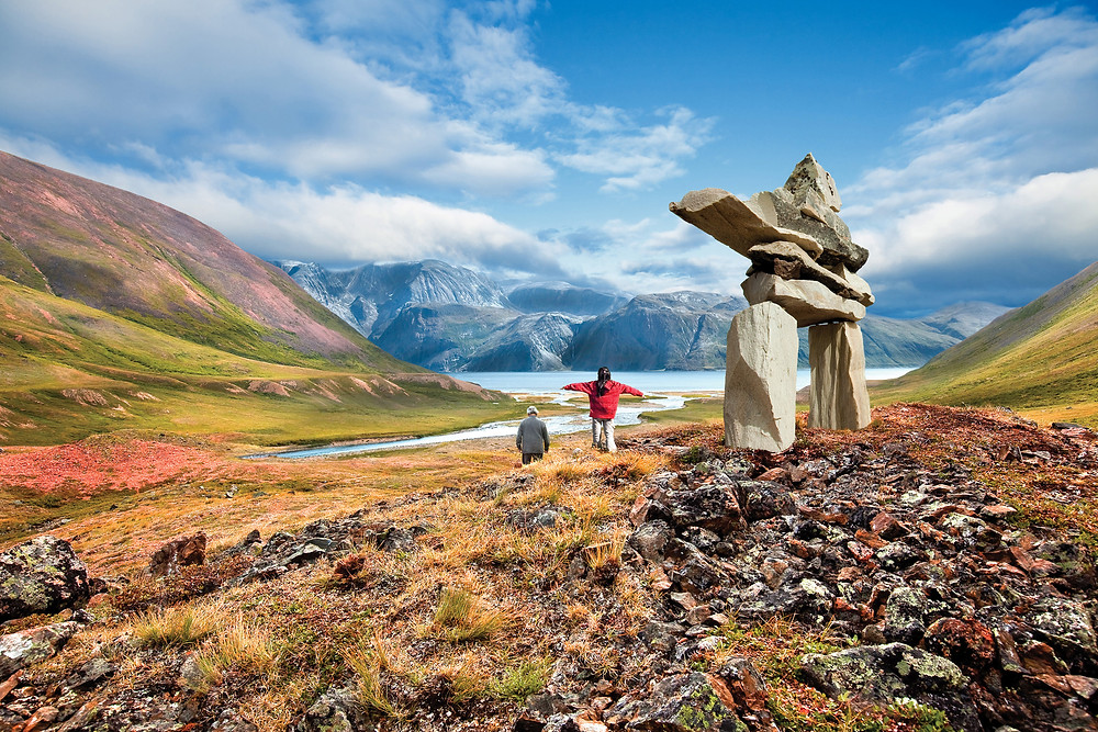 Barrett & MacKay - Labrador-Torngats Mountains Inukshuk and People