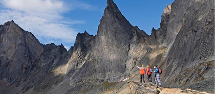 The dramatic wind-carved peaks of Tombstone Territorial Park are perhaps the Yukon's most famous image.  Exciting backpacking is augmented by stunning views, plenty of wildlife and a sense of being in the middle of nowhere.  This is some of Northern Canada's best hiking.