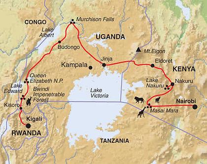 Rwanda, Uganda, Kenya