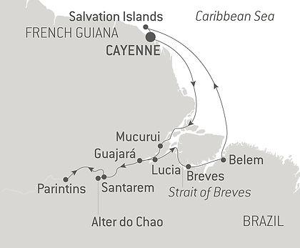 French Guiana, Brazil