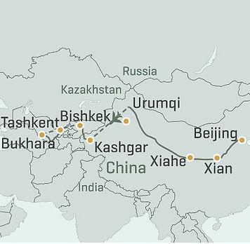China, Kyrgyzstan, Uzbekistan