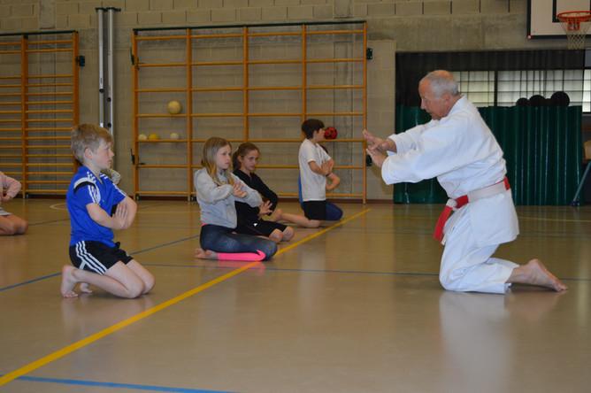 Karate-initiatie voor afdeling B