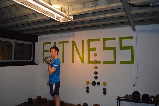 Vernieuwde fitnessruimte