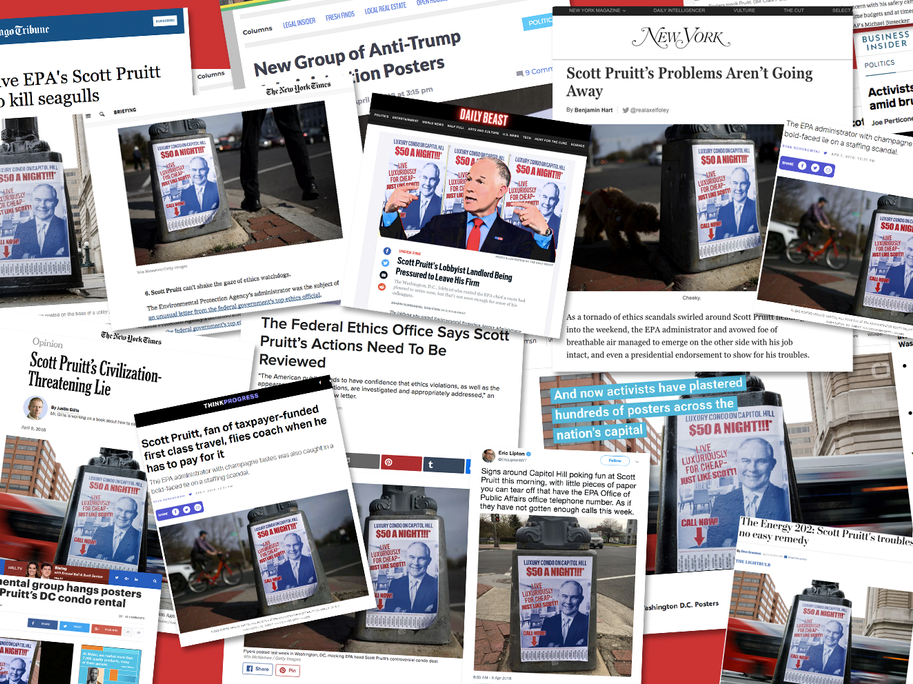 Some of the press hits using our poster.