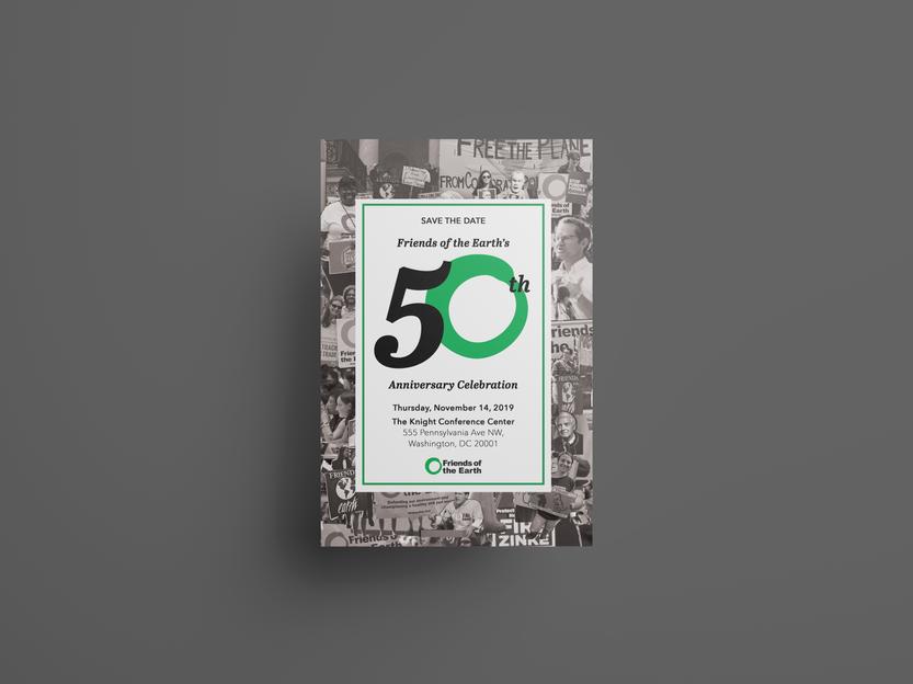 5 x 7'' event invitation