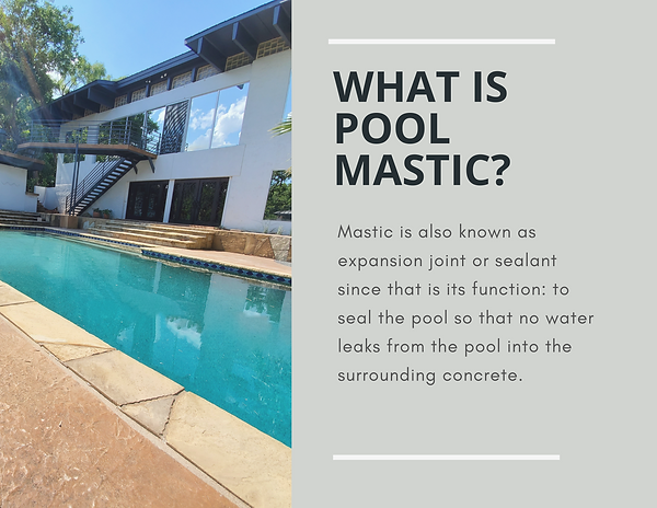 Mastic is also known as expansion joint
