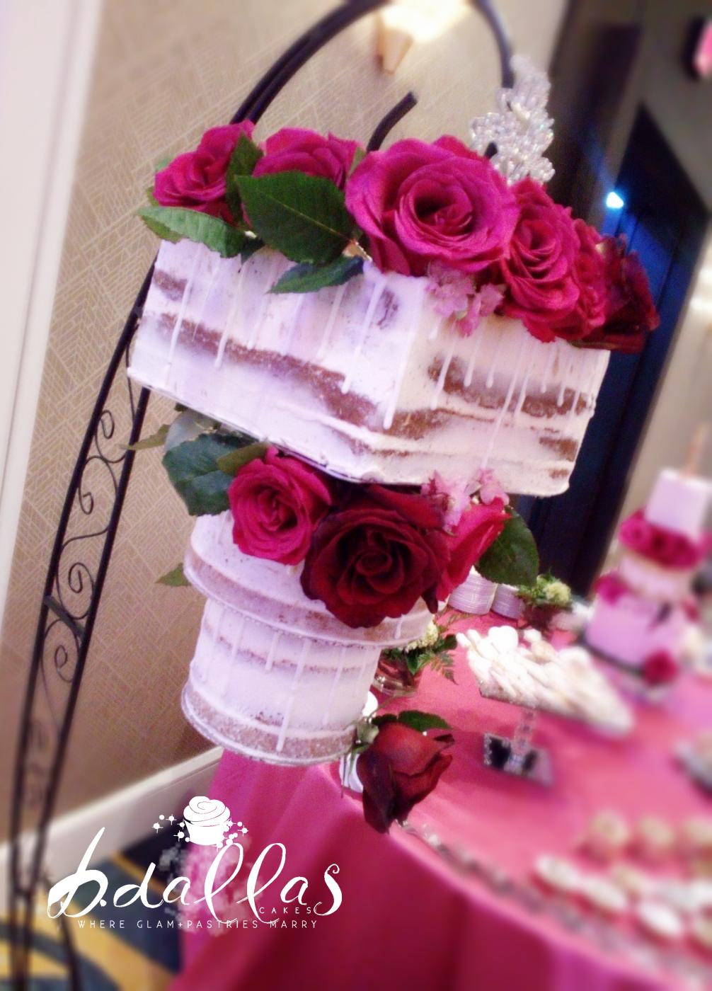 HANGING CHANDELIER WEDDING CAKE