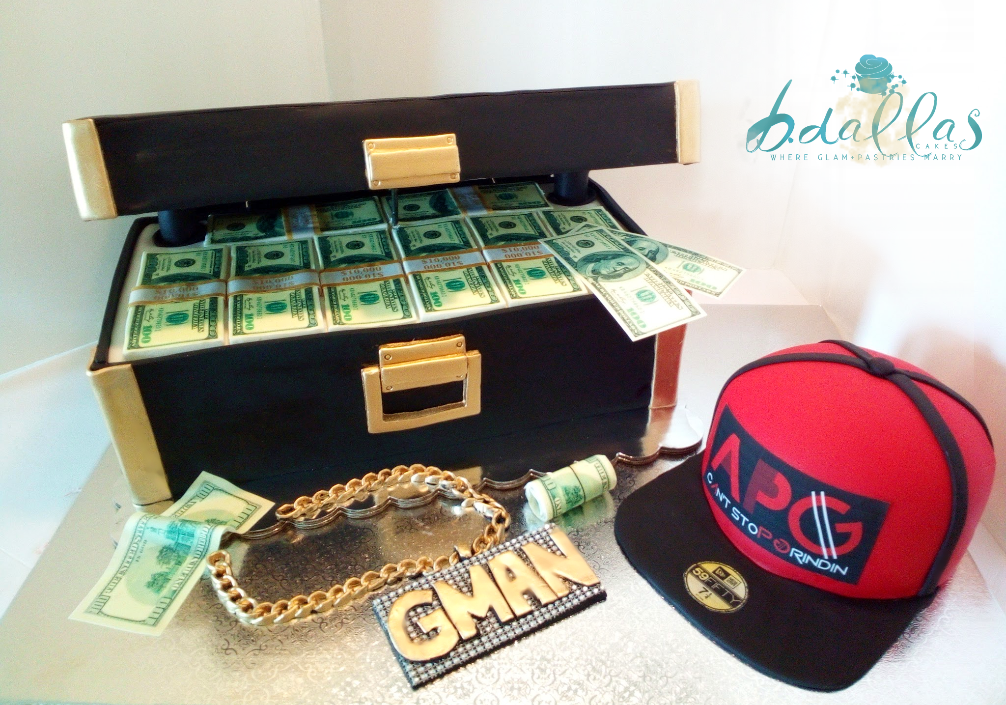 MONEY CASE CAKE