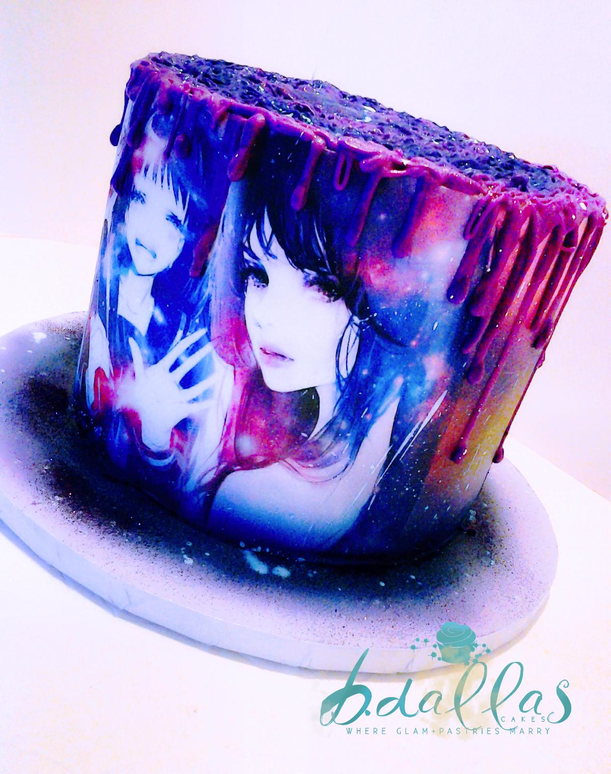 Anime Galaxy Cake
