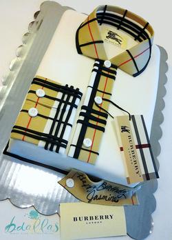 BURBERRY SHIRT CAKE